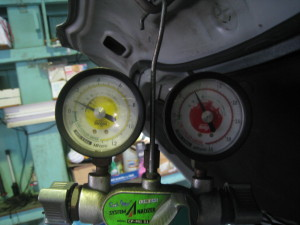 ガス圧変化