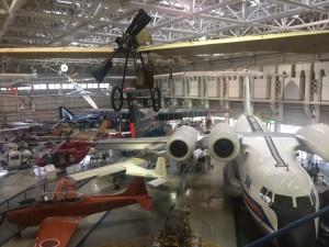 航空博物館内